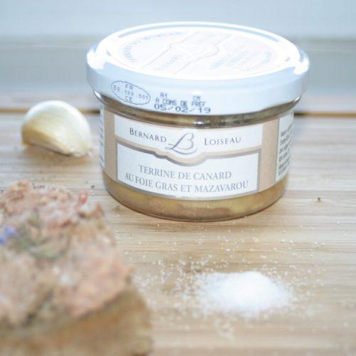 Terrine de canard au foie gras de mazavarou