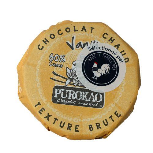 PALET POUR PREPARATION DE CHOCOLAT CHAUD VANILLE
