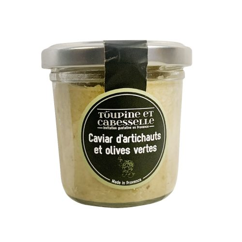 Caviar d'artichauts et olives vertes