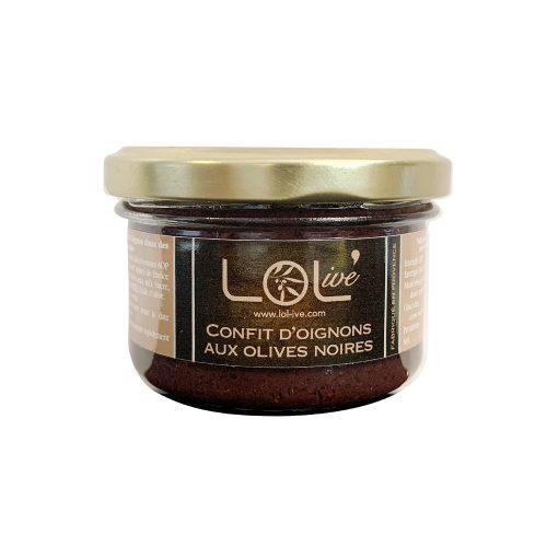 Confits d'oignons aux olives noires