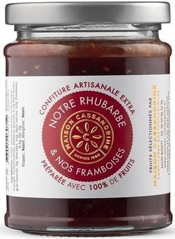 Confiture Extra de Rhubarbe et Framboises