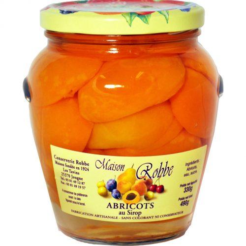 Fruits au sirop abricots