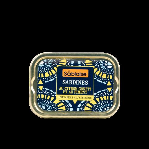 Sardines au citron confit et au piment