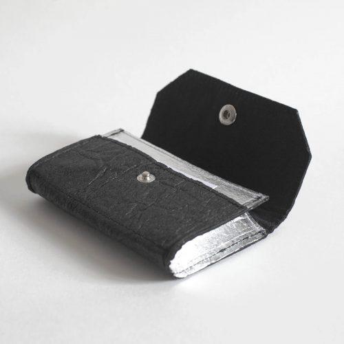 Porte-monnaie Phulan Noir& Argenté