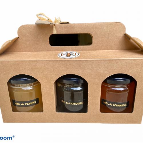 Panier trio de miel