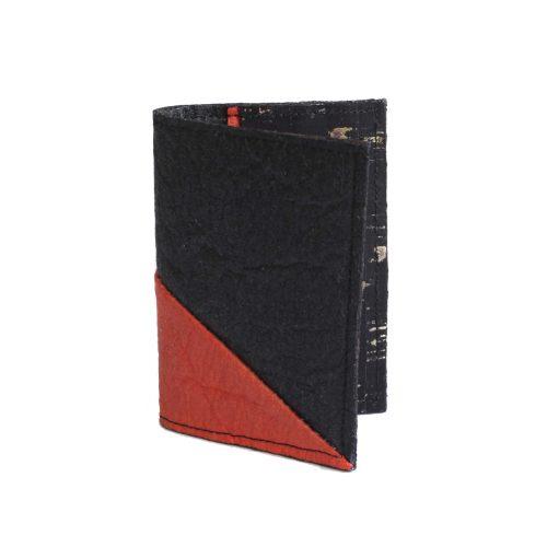 Porte-cartes Jesselyn Noir& Paprika
