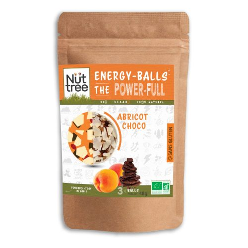 "Energy-Balls Nüttree - ""Power-Full""   Abricot-Choco"