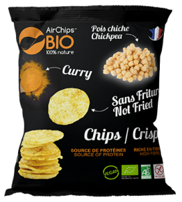 Chips pois chiche & curry