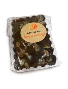 Mini tablette Noir 67% cacao à lécorce d'Orange confite