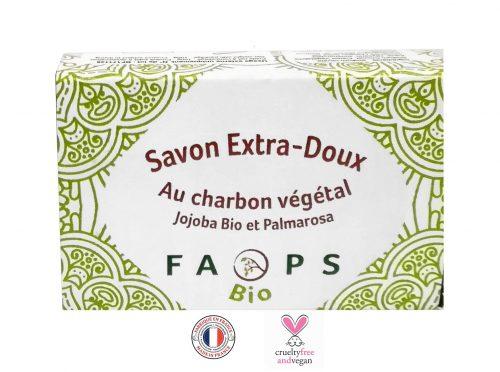 Savon Français Charbon végétal actif et huiles végétales BIO