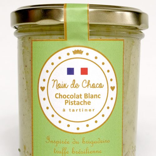 Pâte à tartiner chocolat blanc pistache