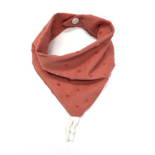 Bavoir bandana jersey rose marsala