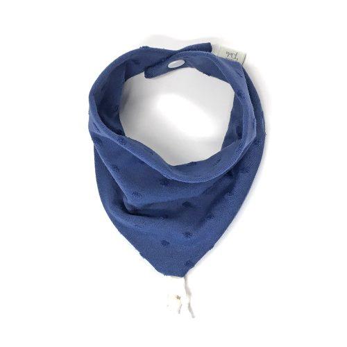 Bavoir bandana jersey bleu indigo