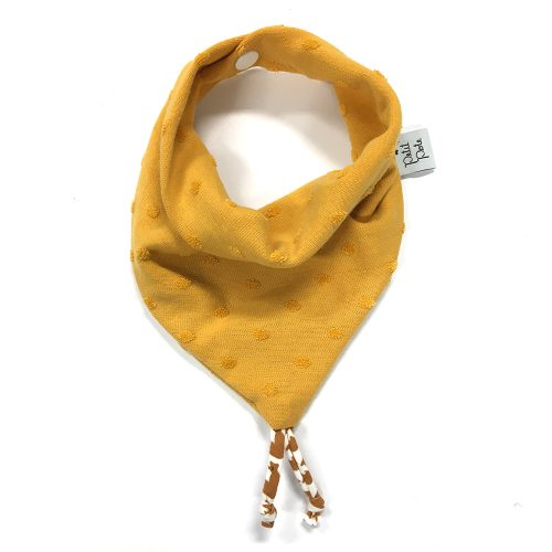 Bavoir bandana jersey jaune moutarde