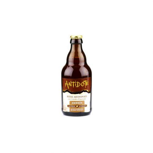 Bière Ambrée Artisanale Antidote aux Céréales d'Auvergne