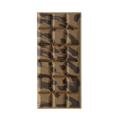 Tablette de chocolat au caramel