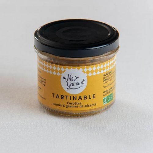 Tartinables Carottes cumin graines de sésame