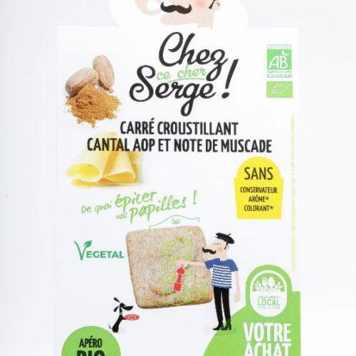 Carré croustillant Cantal AOP et note de Muscade BIO