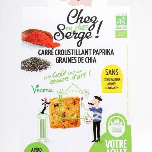 Carré croustillant Paprika et Graines de Chia BIO