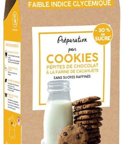 PREPARATION BIO POUR COOKIES PÉPITES DE CHOCOLAT ET LEUR NOTE CACAHUETE