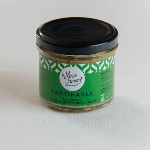 Tartinables Courgettes Basilic graines de tournesol