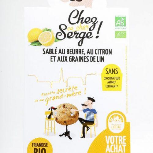 Sablé au beurre, au citron, et aux graines de lin BIO