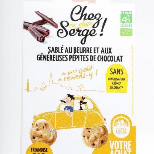 Sablé au Beurre et aux Généreuses Pépites de Chocolat BIO