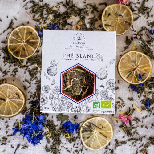 Thé Blanc Bergamote et Fleurs de Souci - Vrac