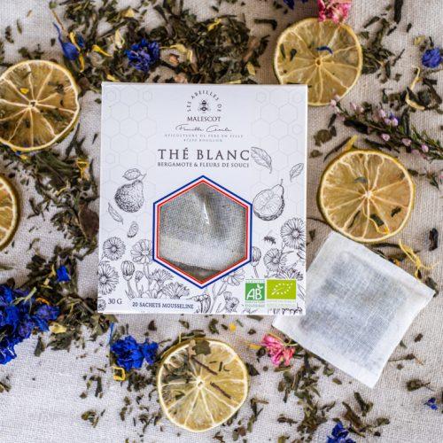 Thé Blanc Bergamote et Fleurs de Souci - 20 Mousselines