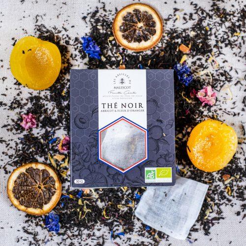 Thé Noir Abricot et Fleurs d'Oranger - 20 Mousselines