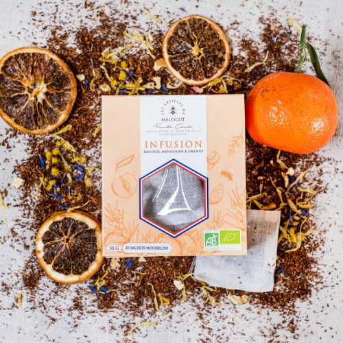 Infusion Rooibos Mandarine et Orange - 20 Mousselines
