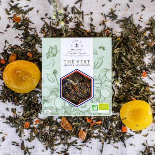 Thé Vert Abricot et Fleurs de Miel - Vrac