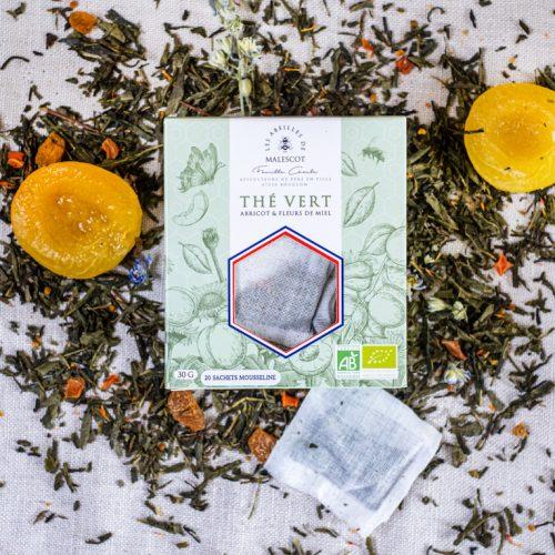 Thé Vert Abricot et Fleurs de Miel - 20 Mousselines