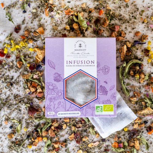 Infusion Fleurs de Sureau et Camomille - 20 Mousselines