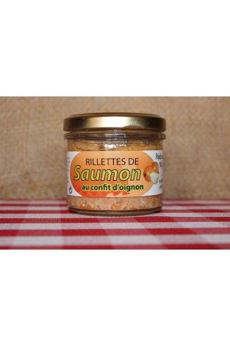 Rillettes de saumon confit d'oignon
