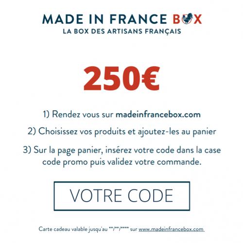 Carte Cadeau Made in France Box 250€